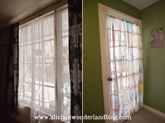 Alicia in Wonderland Blog - Curtains Sewn from Wedding Leftovers