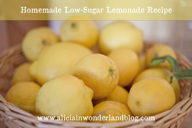 Alicia in Wonderland Blog - Homemade Low-Sugar Lemonade Recipe