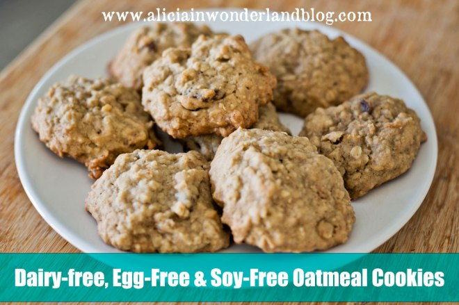 Oatmeal Cookies Recipe: Dairy-free, Soy-free, Egg-free