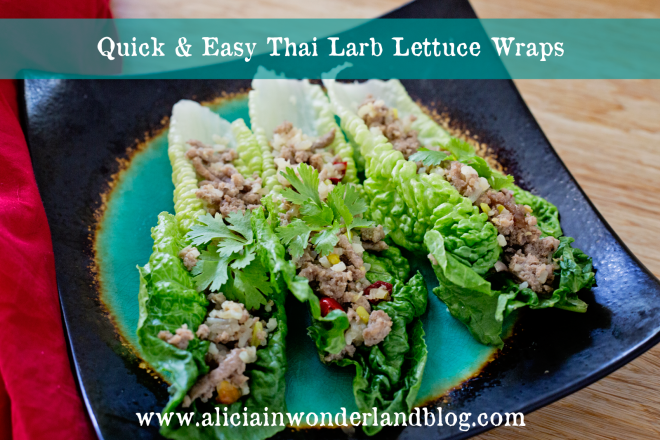 turkey larb lettuce wraps